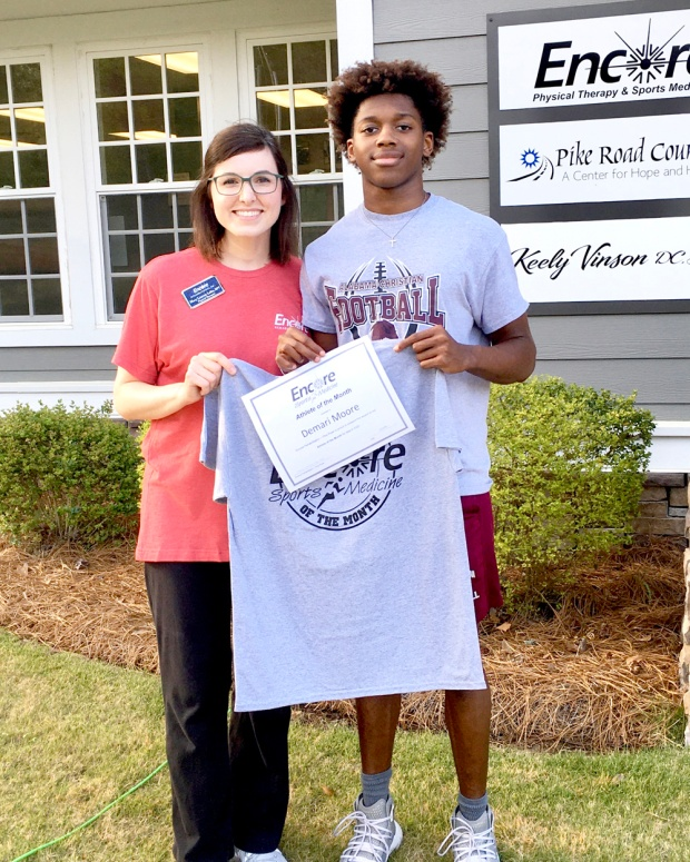 Demari Moore is Athlete of the Month for #EncoreRehab Pike Road