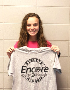 Hannah Duncan is Athlete of the Month for Encore Rehabilitation at DeKalb Regional Medical Center