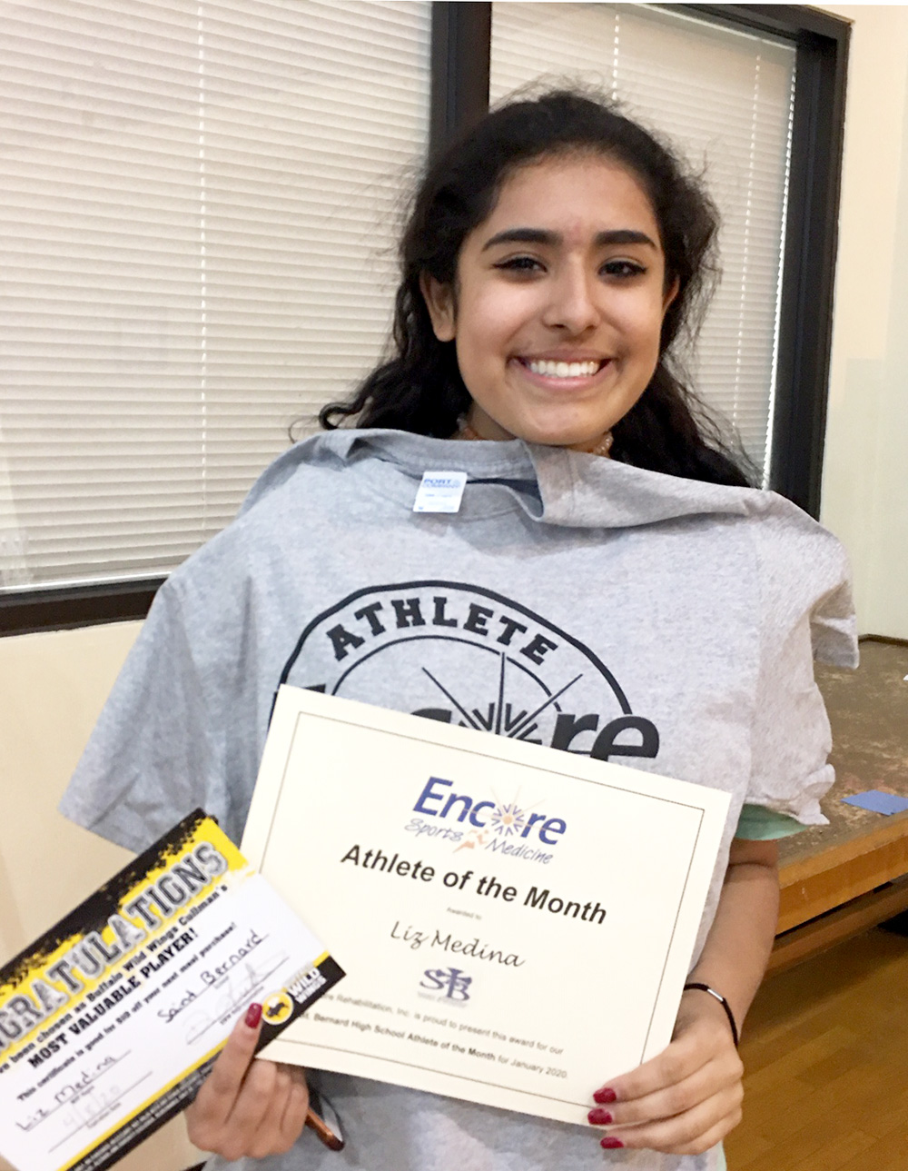 Liz Medina is Athlete of the Month for Saint Bernard Preparatory School and #EncoreRehab Cullman