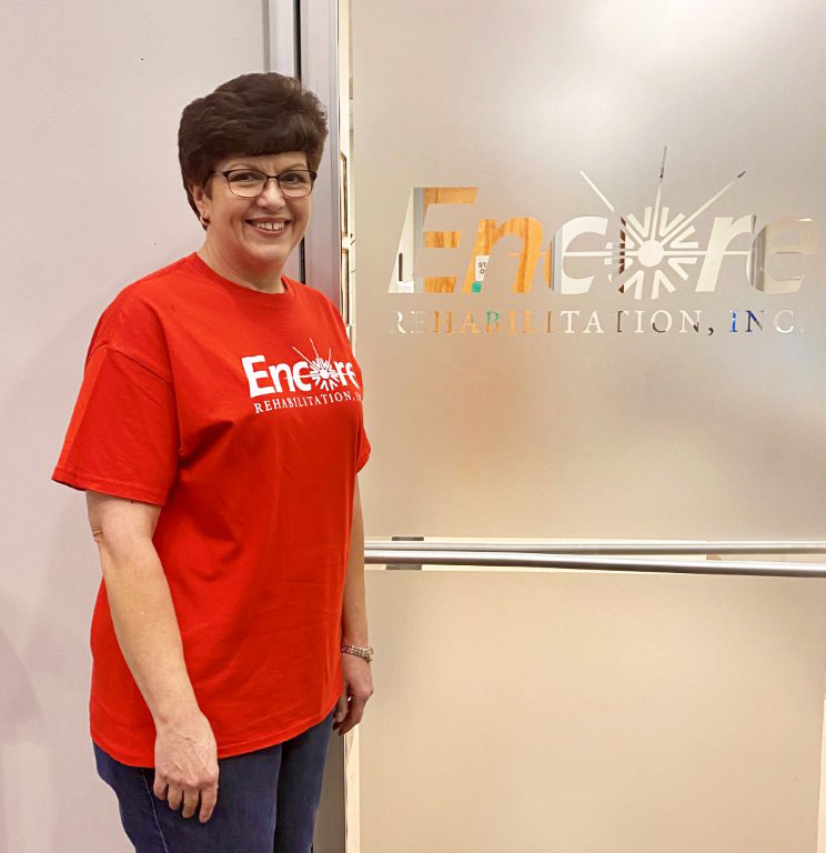 Sheri White is Patient of the Month for #EncoreRehab Winfield