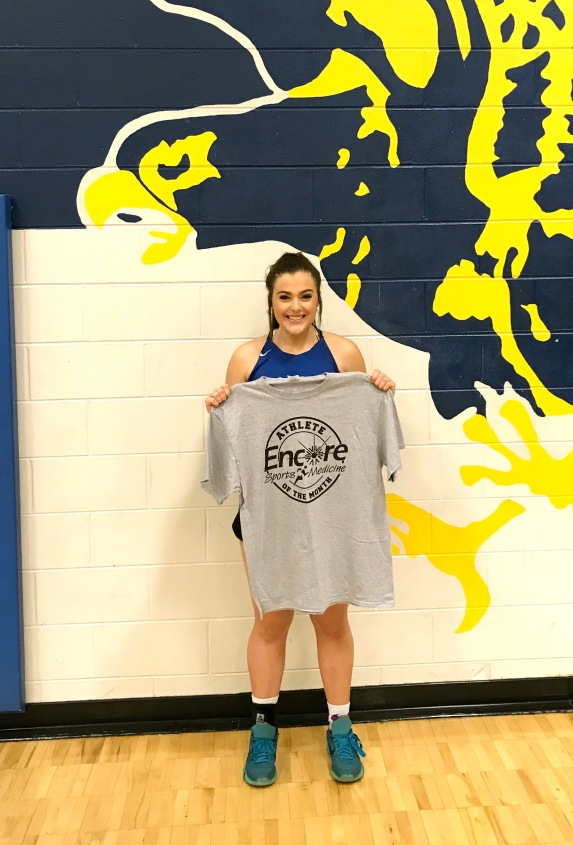 Toni West is Athlete of the Month for Cold Springs High School and #EncoreRehab Cullman