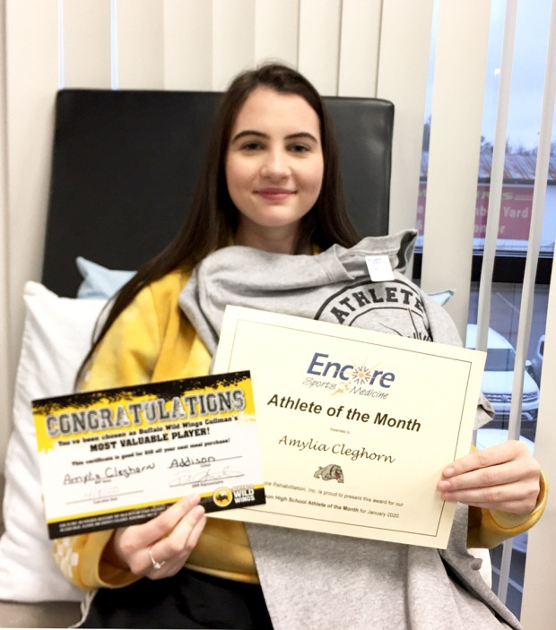 Amylia Cleghorn is Athlete of the Month for Addison High School and Encore Rehabilitation-Cullman