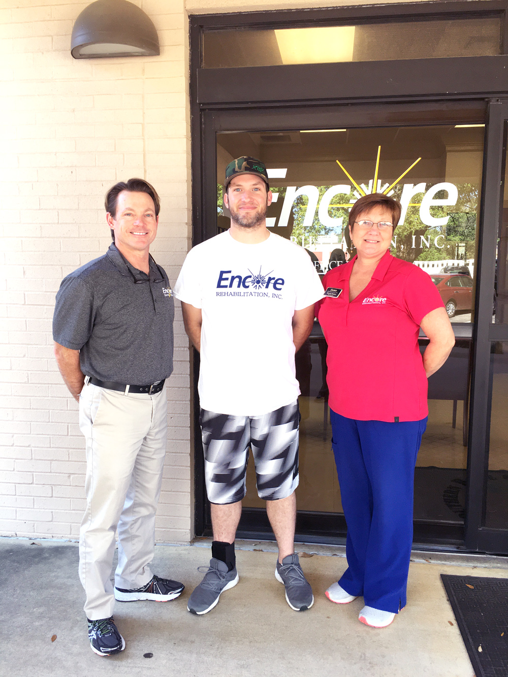 #EncoreRehab Enterprise Patient of the Month Chase Phipps with Todd and Brenda