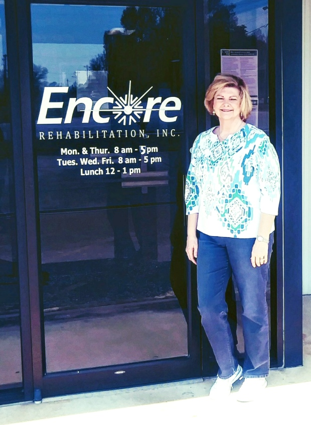 Deirdre Smith is Patient of the Month for #EncoreRehab Muscle Shoals