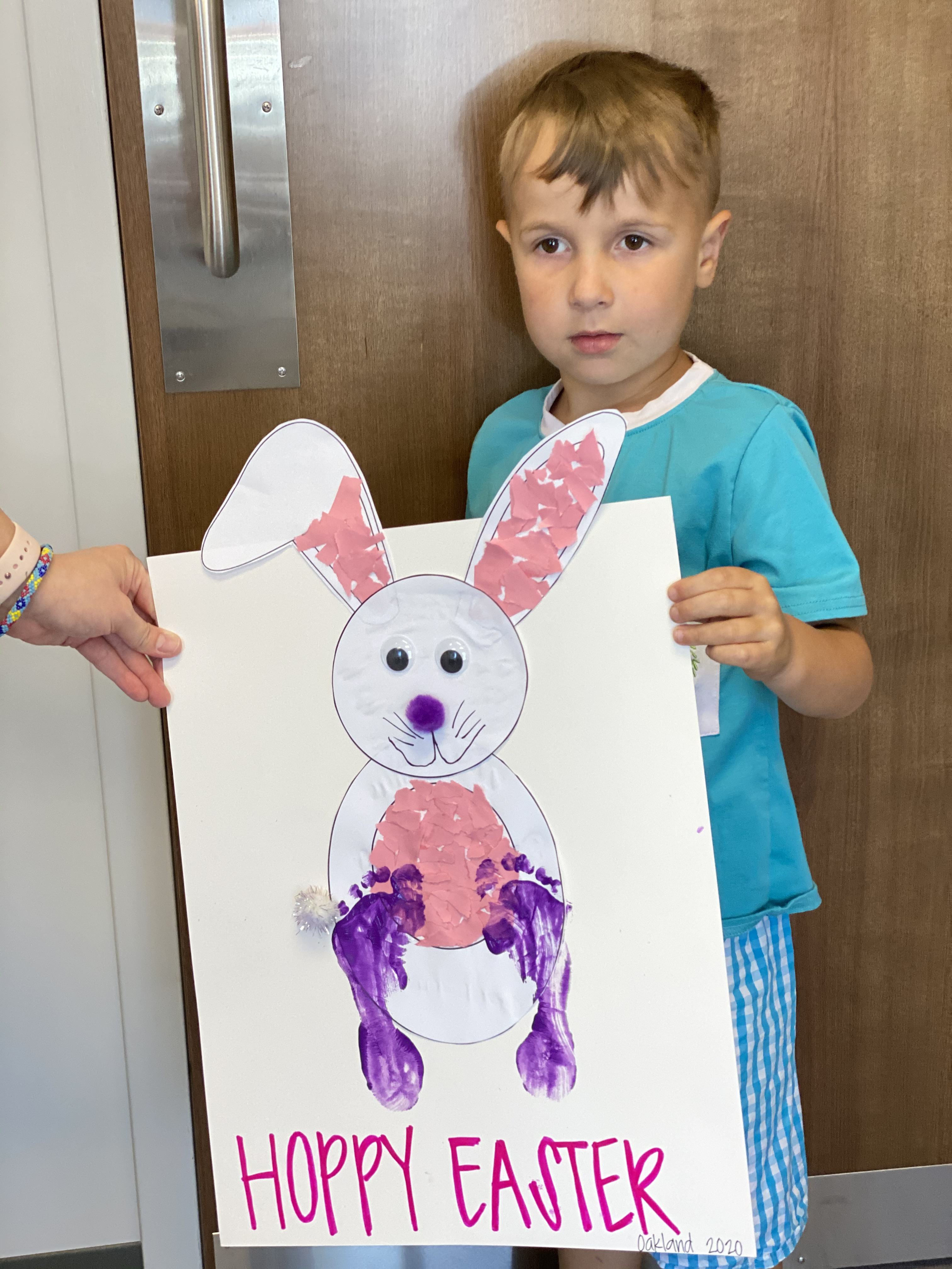Easter Bunny art makes therapy even more fun! #EncoreRehab West Mobile