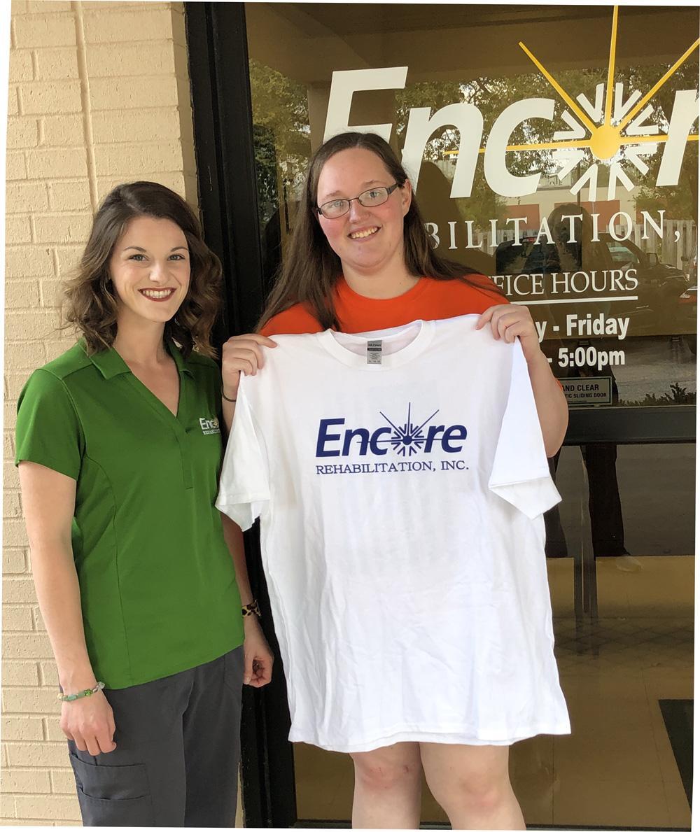 Jessica Whitehead is Patient of the Month for Encore Rehabilitation-Enterprise #weLOVEtoseeyoumove