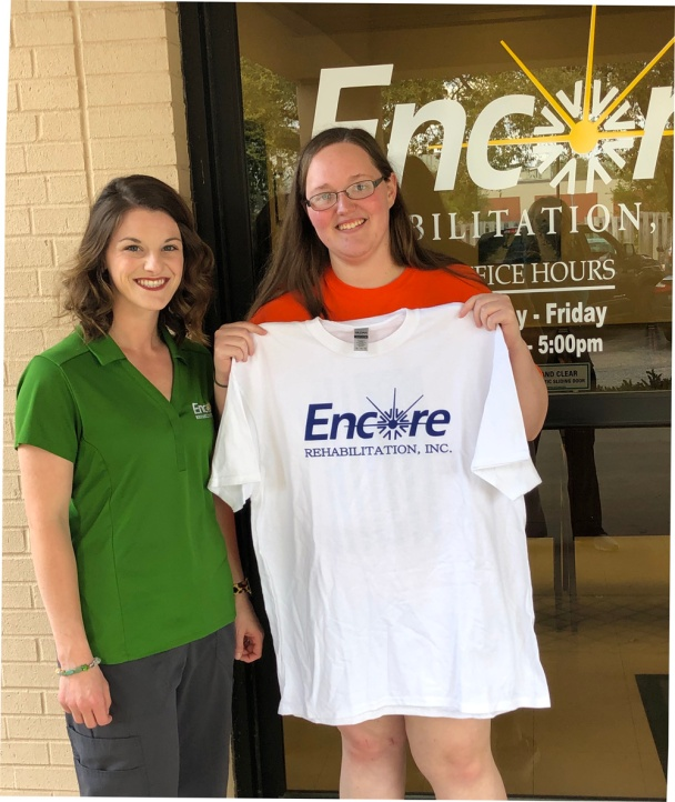 Jessica Whitehead is Patient of the Month for Encore Rehabilitation-Enterprise #weLOVEtoseeyoumove