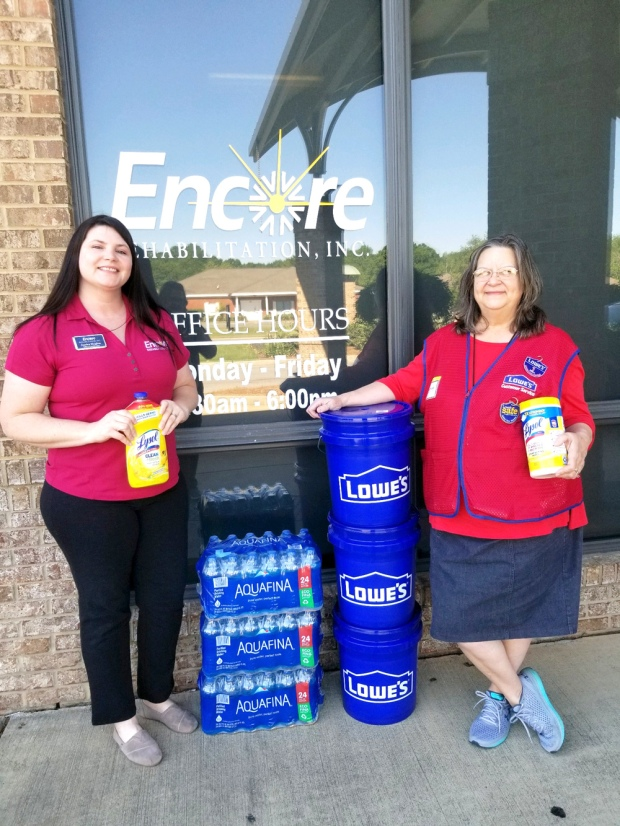 #EncoreRehab Dothan would like to thank Lowe's Home Improvement Store for the donated supplies!