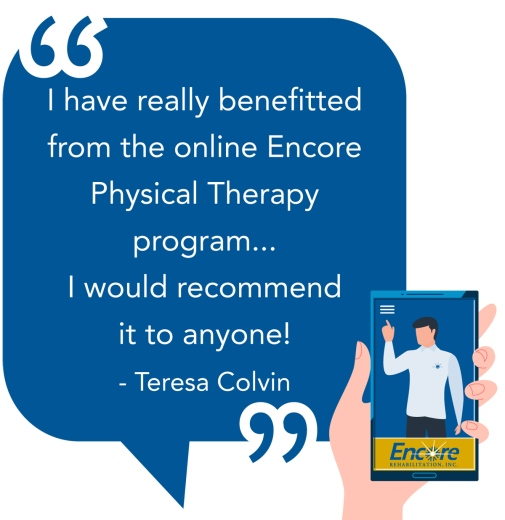 Teresa Colvin benefitted from Telehealth with #EncoreRehab Hamilton