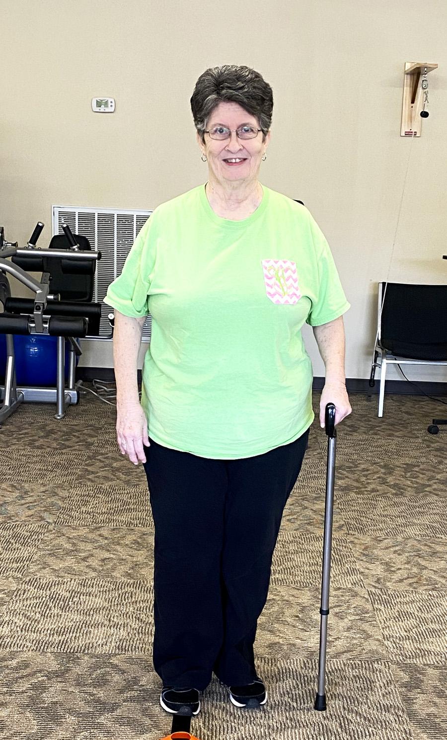 Vickie Franks is Patient of the Month for Encore Rehabilitation-Hamilton