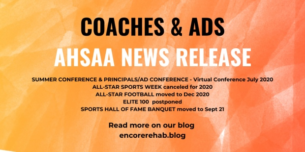 AHSAA News Release May 2020