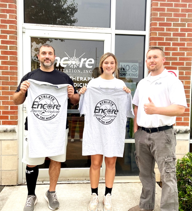 Father-Daughter Patient of the Month and Athlete of the Month Brent and Madison Johnson with #EncoreRehab Geneva