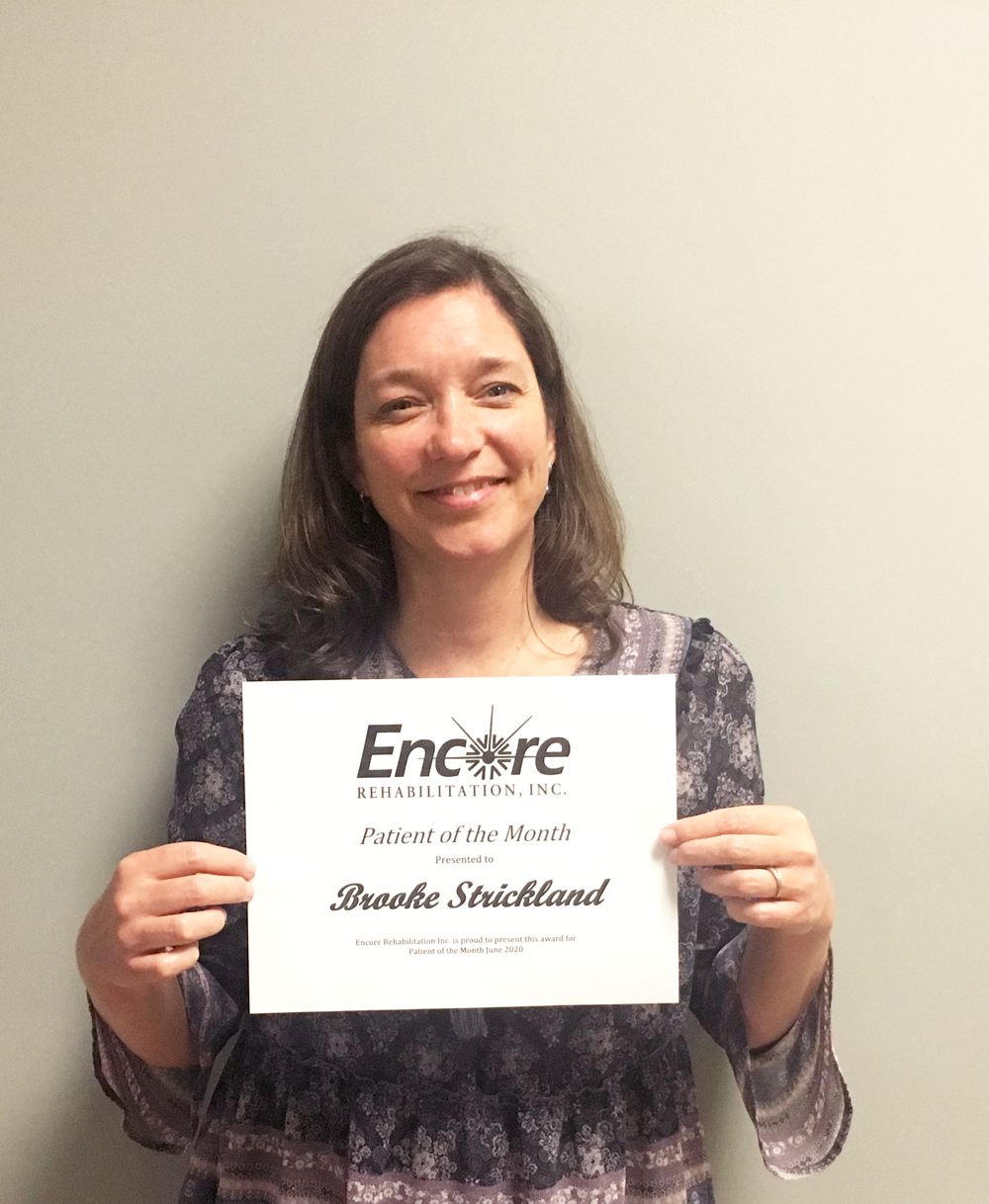 Physical Therapy Patient of the Month Brooke Strickland with #EncoreRehab Dothan