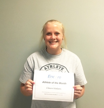 Claire Watson is Athlete of the Month for #EncoreRehab Dothan
