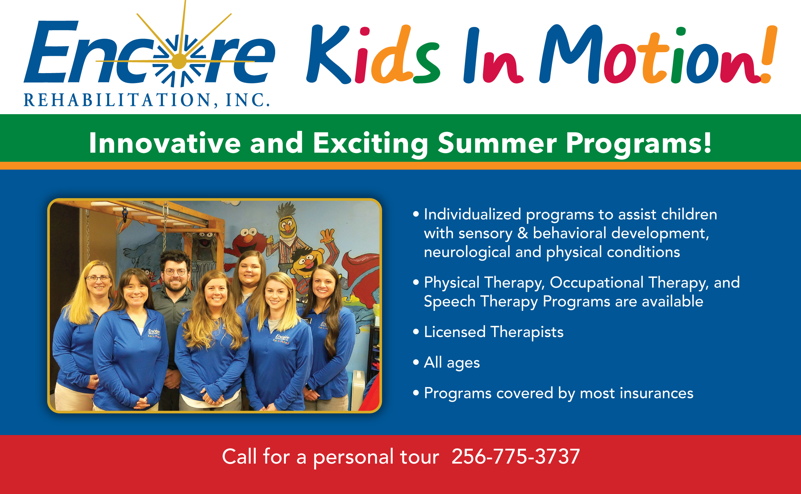 Cullman Pediatric postcard - Kids in Motion 1