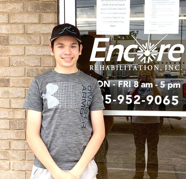 Curran Miller is Patient of the Month for #EncoreRehab Hamilton