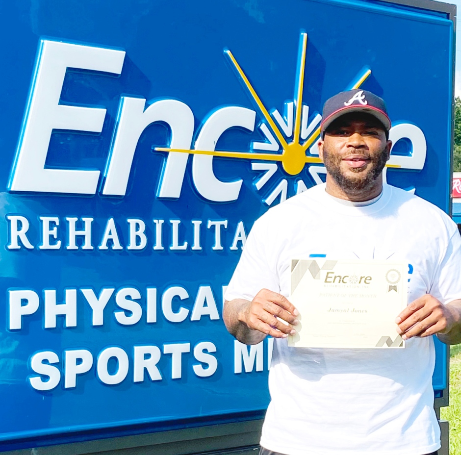 Jamyal Jones is Patient of the the Month for #EncoreRehab Luverne