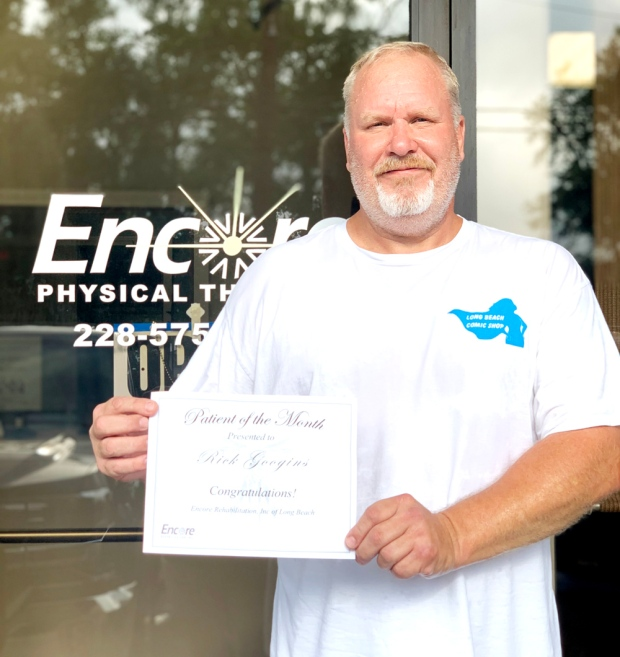 Rick Googins is Patient of the Month for #EncoreRehab Long Beach