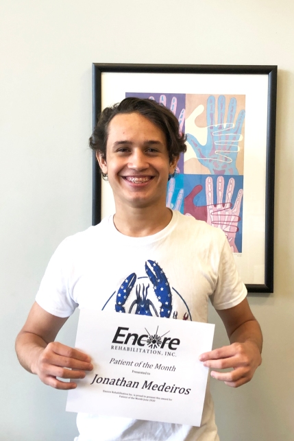 Jonathan Medeiros is Patient of the Month for #EncoreRehab Dothan