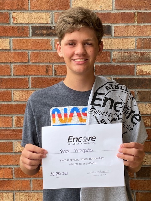 Alex Pongonis is Athlete of the Month for #EncoreRehab Dothan East