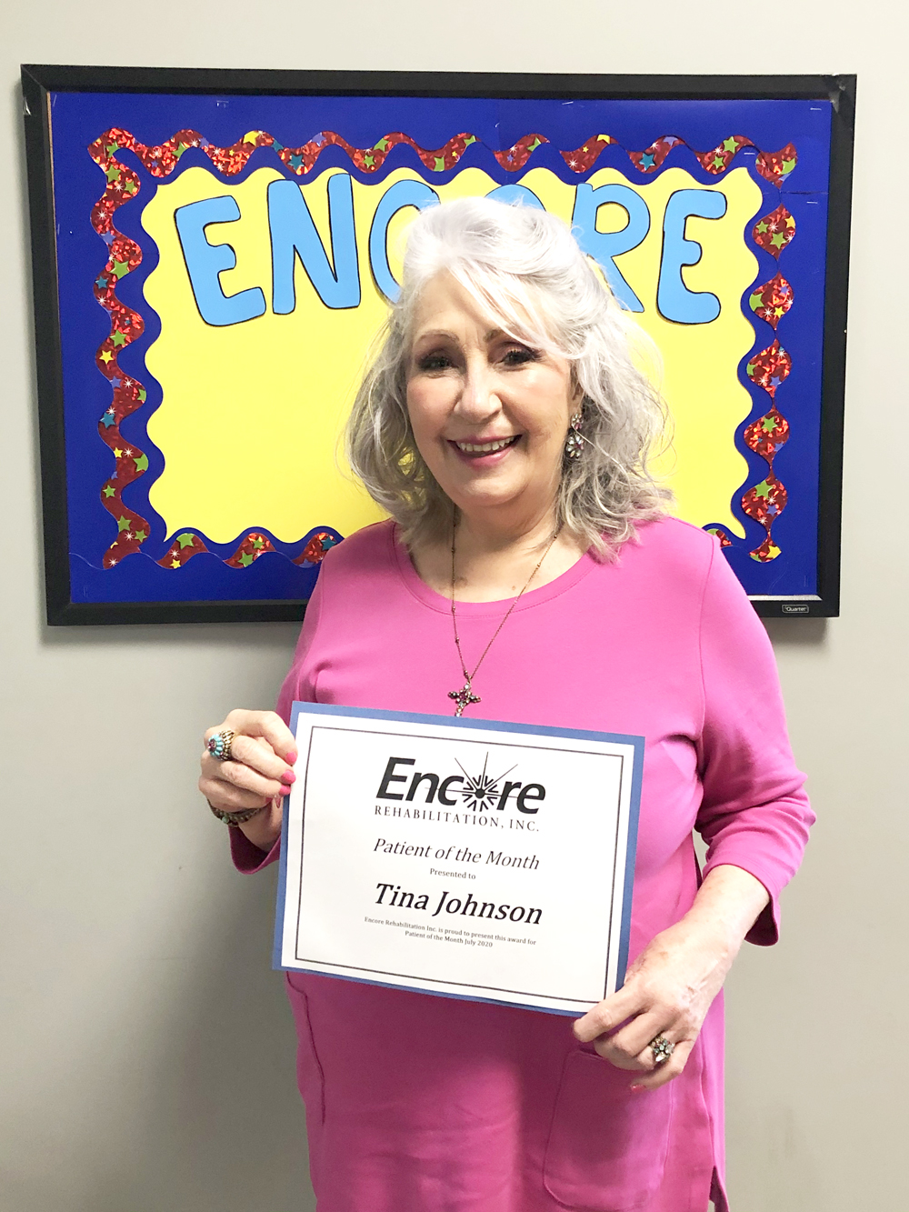Tina Johnson is Occupational Therapy Patient of the Month for #EncoreRehab Dothan