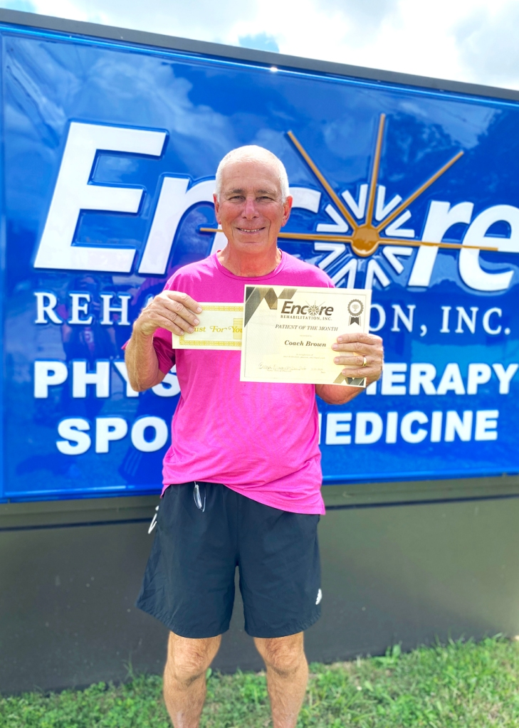 Coach Doug Brown is Patient of the Month for Encore Rehabilitation-Luverne