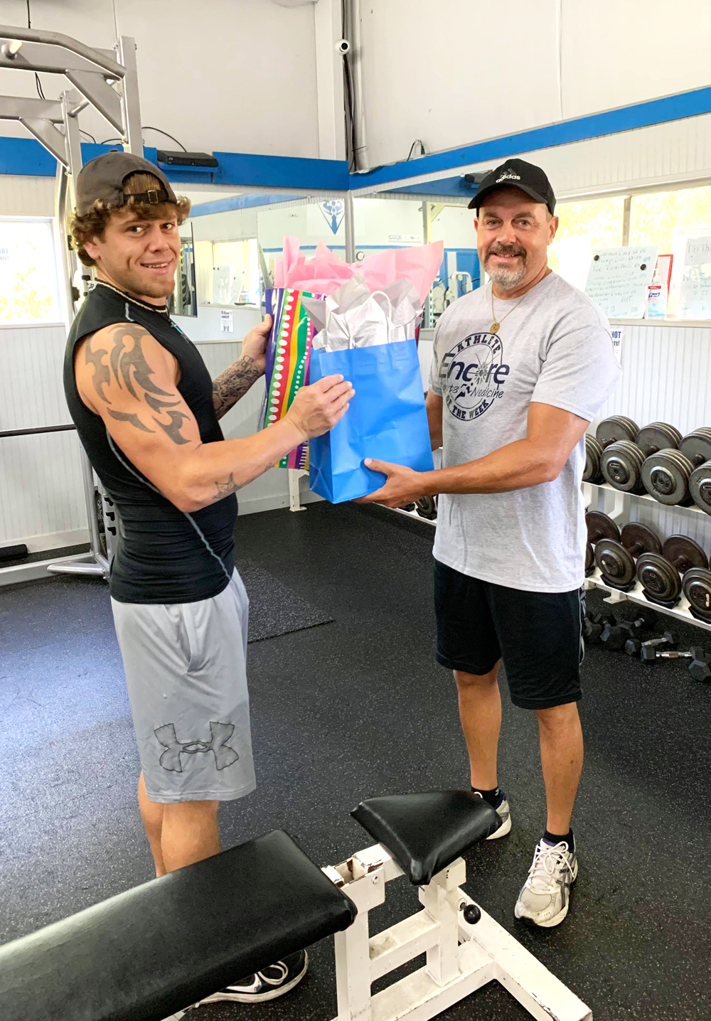 Wade Courtney is recognized as a Super SportsFit Member at SportsFit Leakesville
