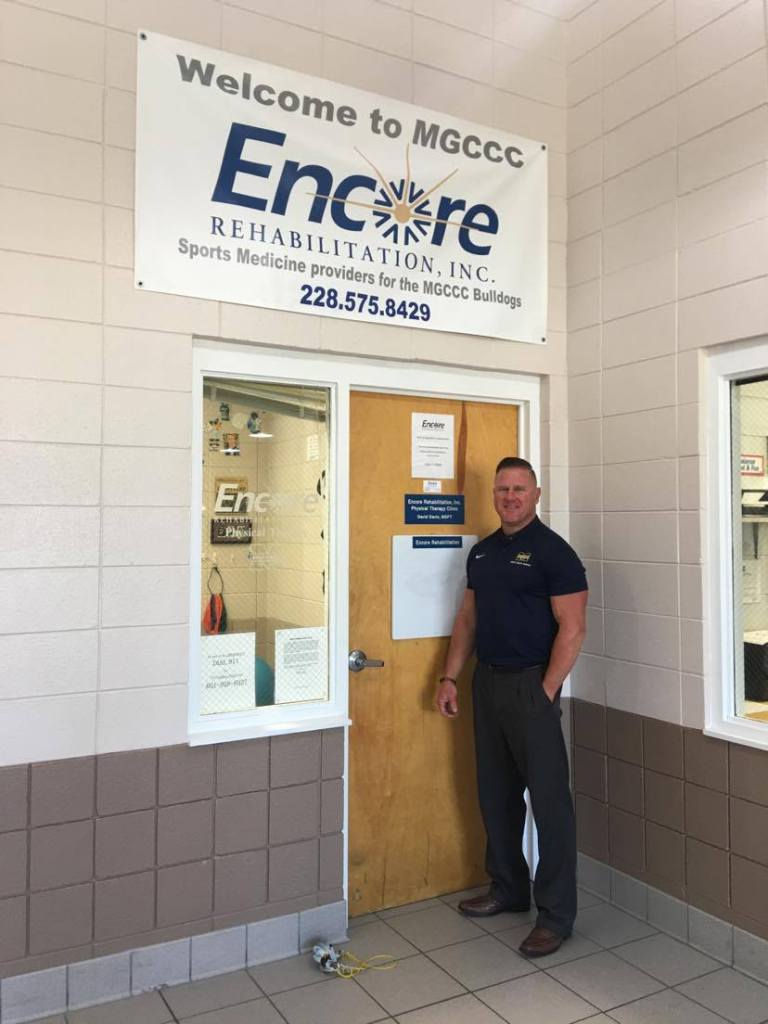 Clinic Director David Davis at the Encore Rehabilitation and Sports Medicine Clinic on the campus of Mississippi Gulf Coast Community College Campus! #weLOVEtoseeyoumove  #EncoreRehab