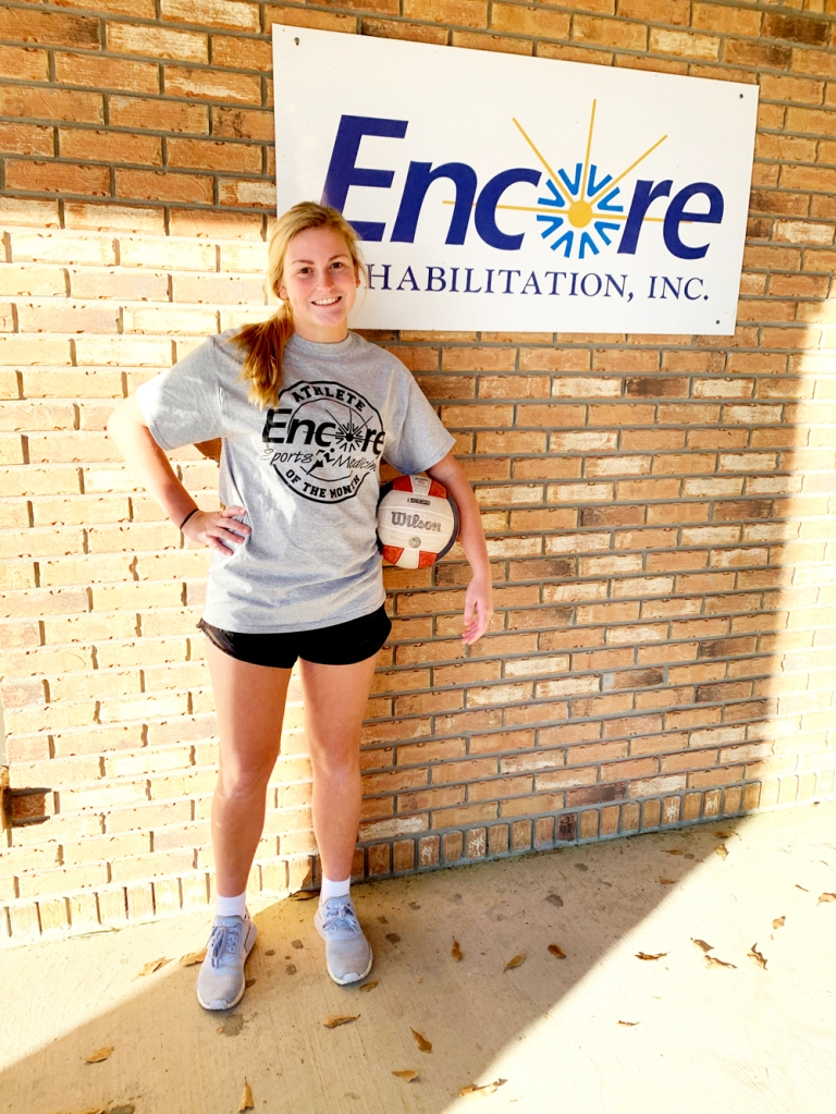 Chloe Cornell is Athlete of the Month for Encore Rehabiltiation-Diamondhead!