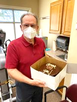 Mr Raybon expressed his gratitude for his successful rehab by bringing the #EncoreRehab Staff at Pascagoula Rehab a delicious chocolate cake! Thanks!