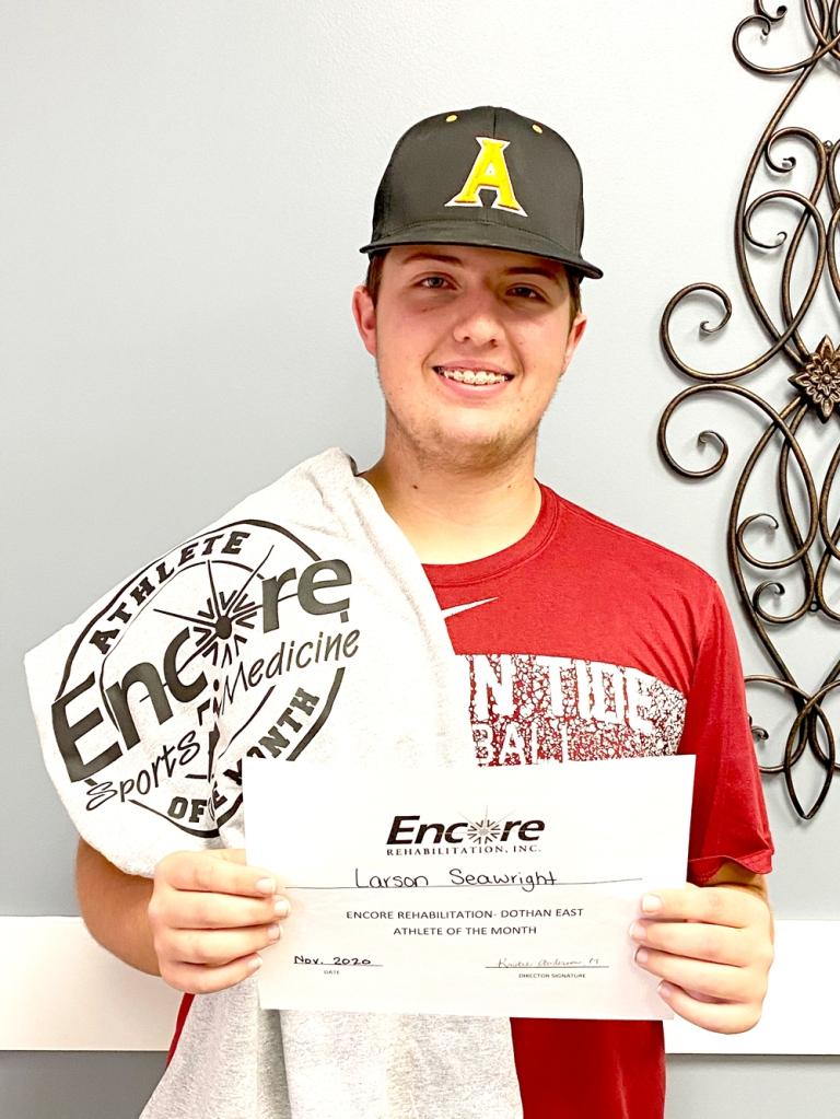 Larson Seawright is Athlete of the Encore Rehabilitation-Dothan East