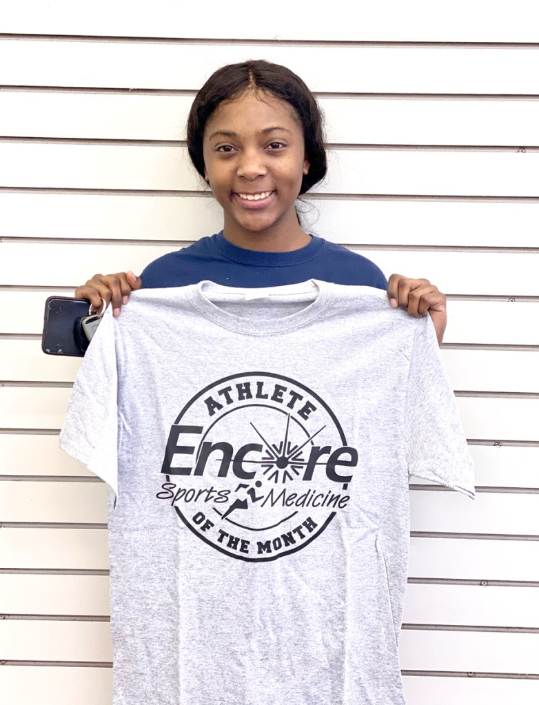 Congratulations to Nykeia Bell, Athlete of the Month for Encore Rehabilitation-Opp!