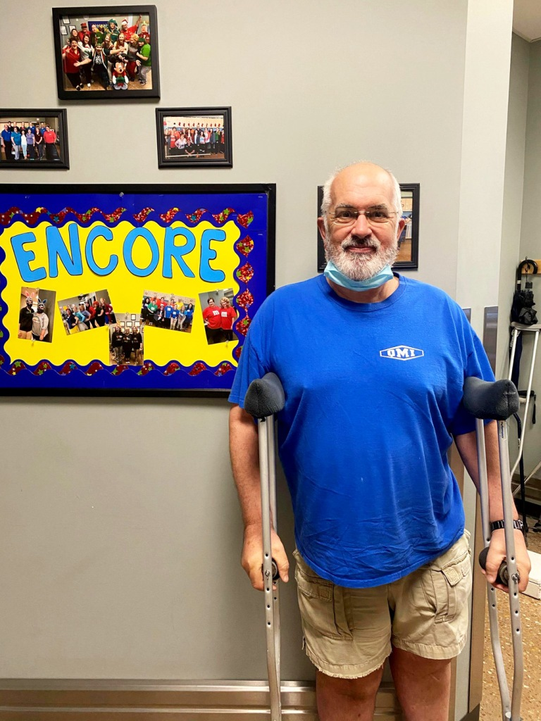 Douglas Dennis is Physical Therapy Patient of the Month for Encore Rehabilitation-Dothan. #EncoreRehab