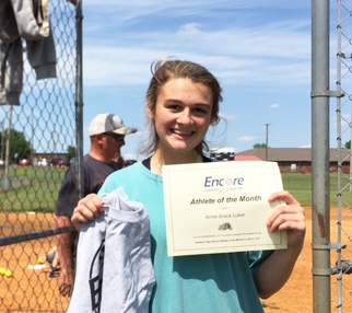 Anna Grace Luker is Athlete of the Month for Encore Rehabilitation-Cullman!
