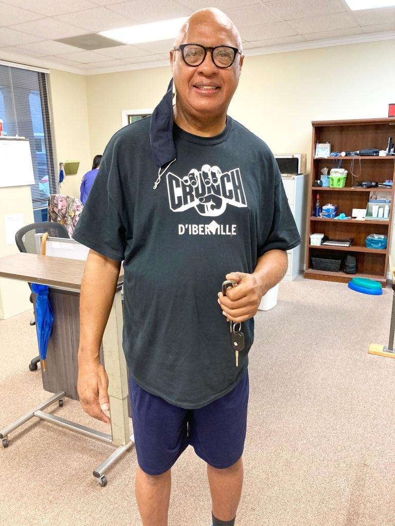 Mr. Teel is Patient of the Month for Encore Rehabilitation-Biloxi