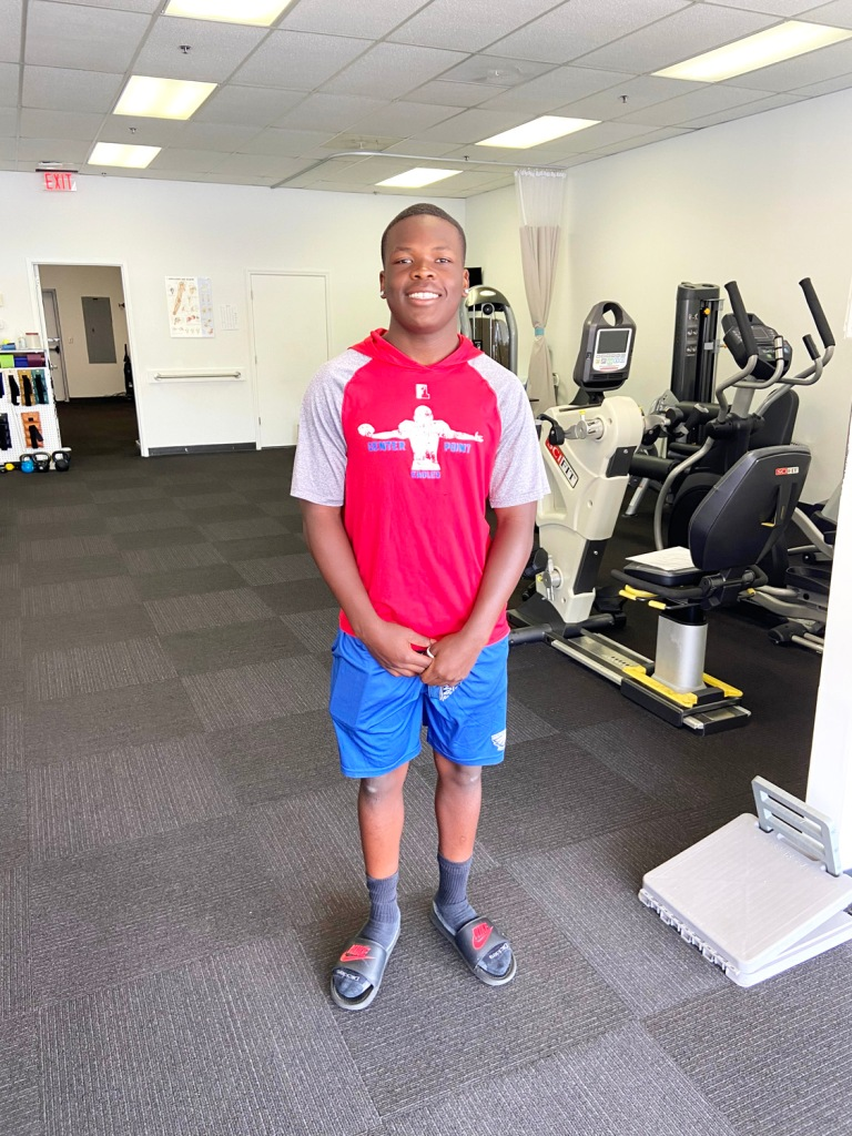 Troy Bruce Jr. is Athlete of the Month for Encore Rehabilitation-Center Point
