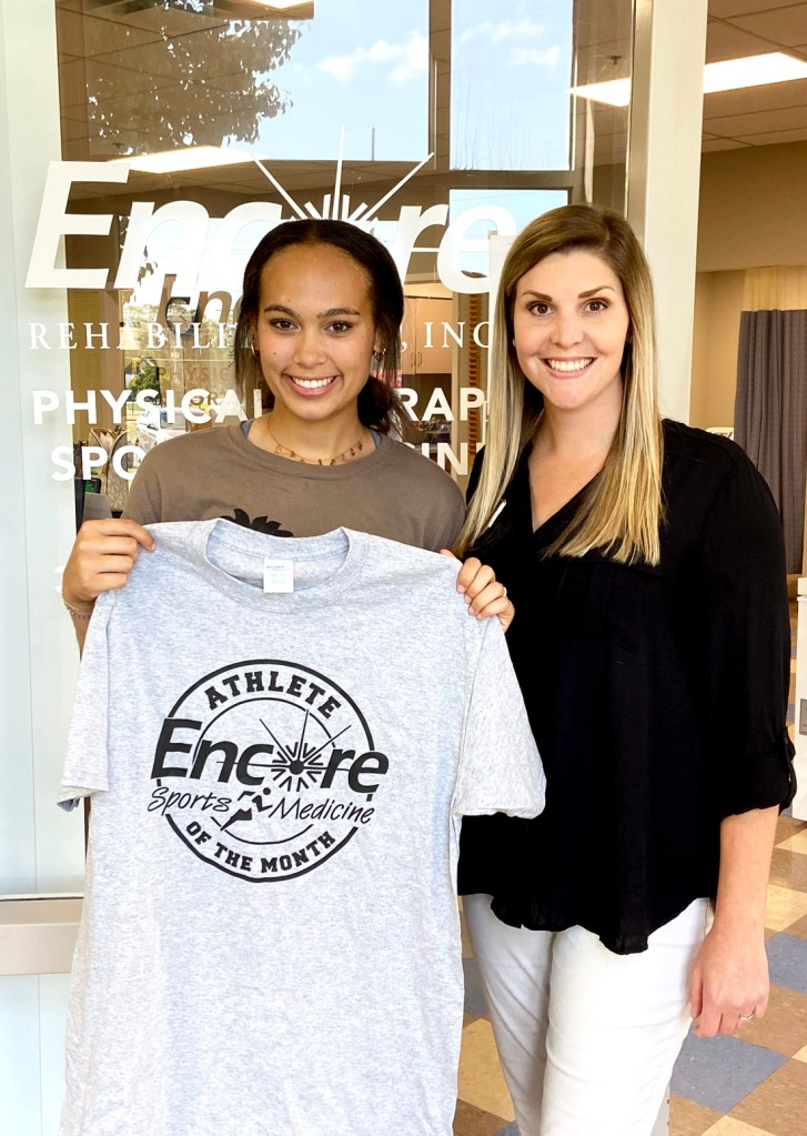 Karleigh Moore is Patient of the Month for Encore Rehabilitation-Geneva