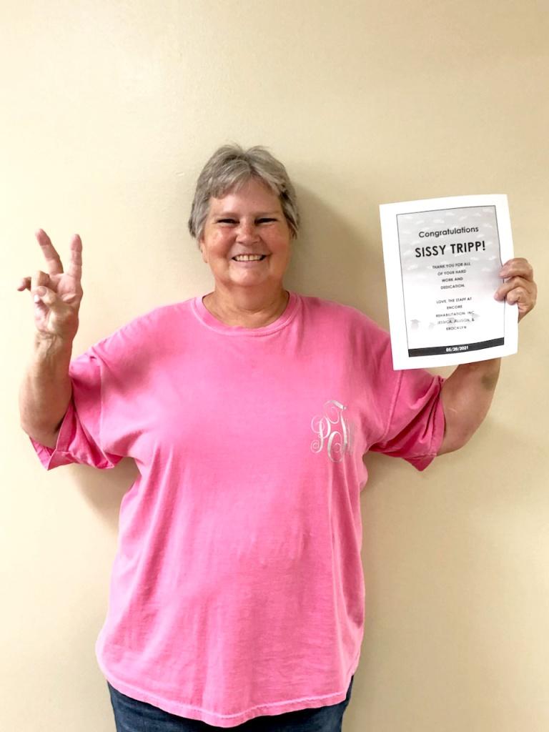 Ms. Tripp is happy at #EncoreRehab Athens!