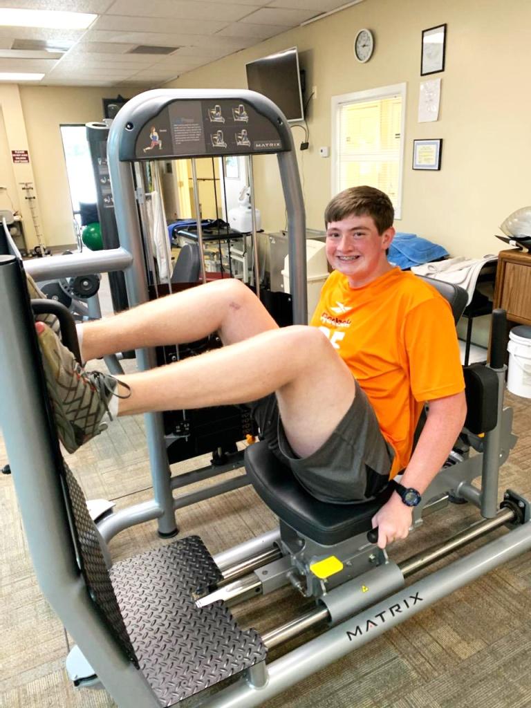 Connor Porter is Patient of the Month for Encore Rehabilitation-Muscle Shoals! #EncoreRehab