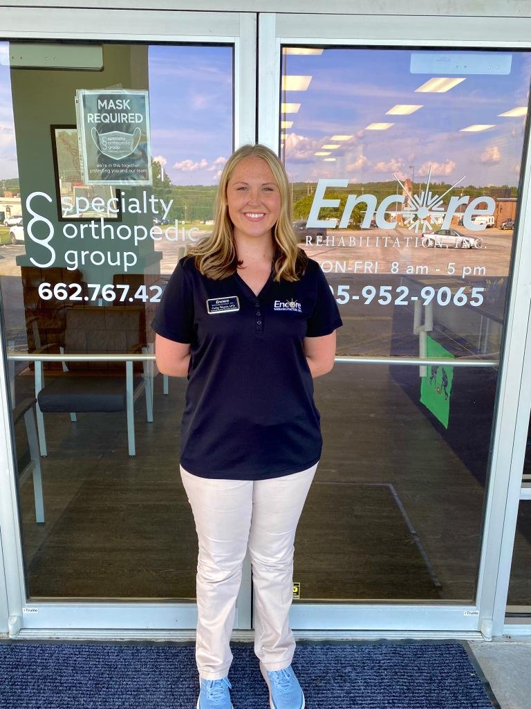 Carley Wooten, LPTA, joins the rehab team at #EncoreRehab Hamilton!