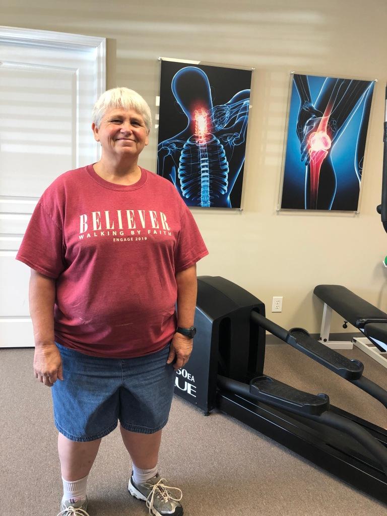 Teresa Edge is glad she chose #EncoreRehab Columbiana to be her rehab provider following knee surgery